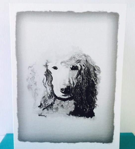 Blank Greeting Card with Dog