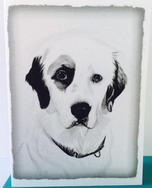 Greeting Card Blank Dog2
