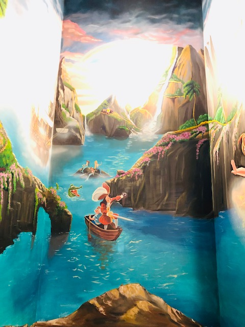 Peter Pan wall mural in Parksville, BC