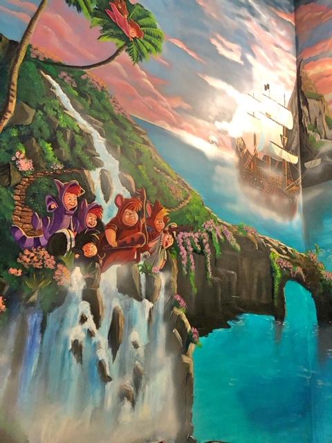 Peter Pan wall mural Parksville