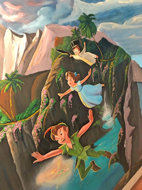 Peter Pan mural in Parksville, BC